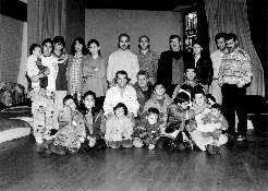 Gruppe der Kurdischen Fluechtlinge in der Germarker Kirche in Wuppertal